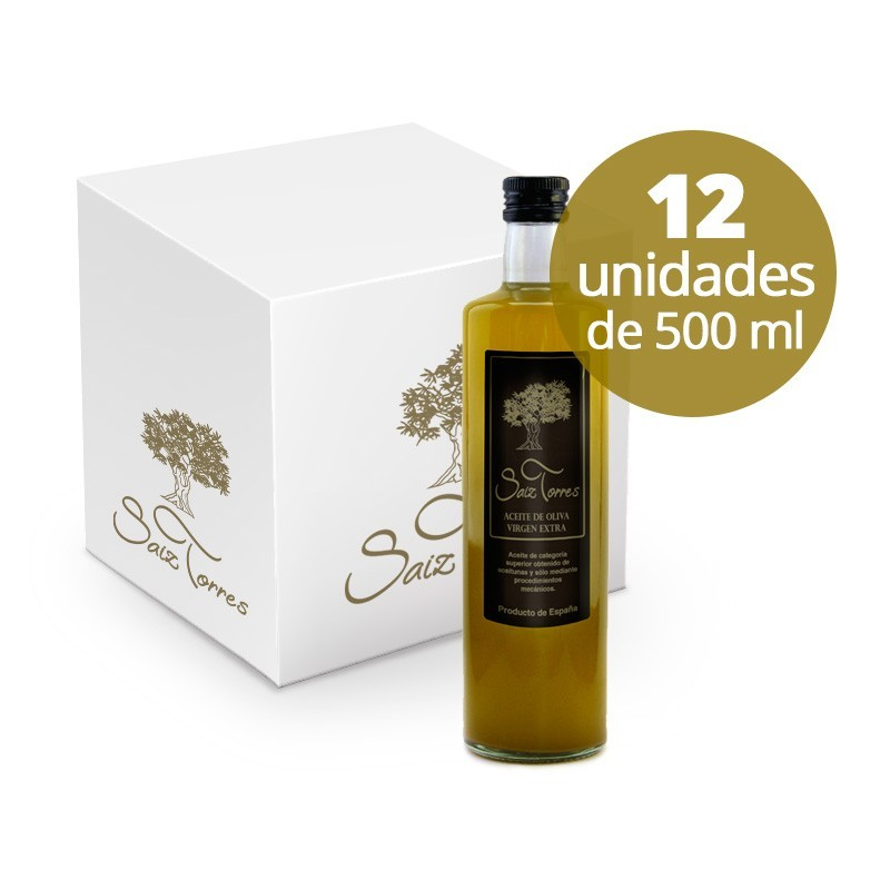Caja 12 Botellas Cristal 500 ml.