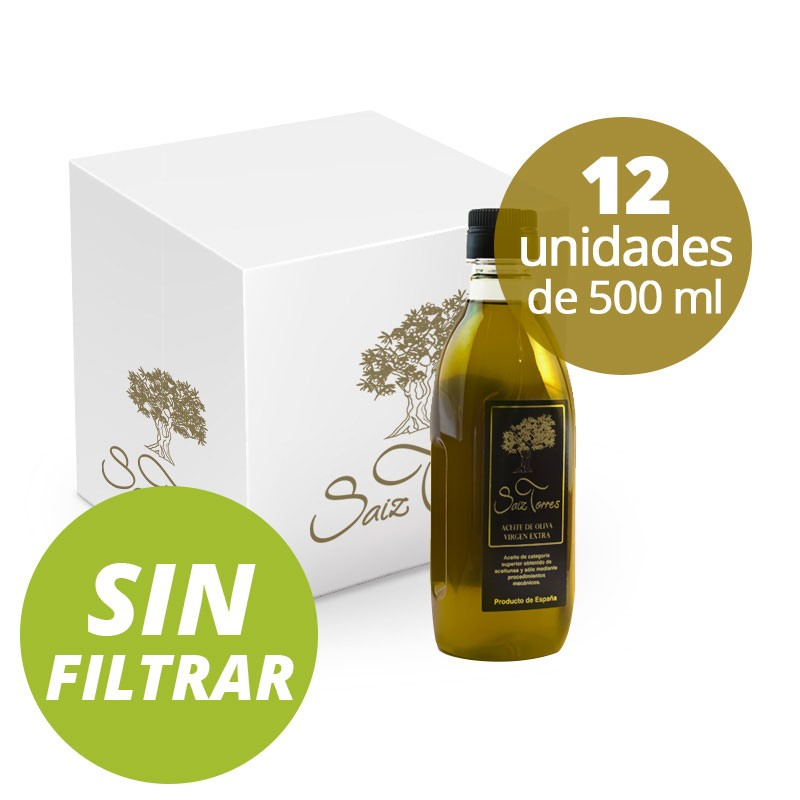 Caja 24 Botellas P.E.T. 500 ml. SIN FILTRAR